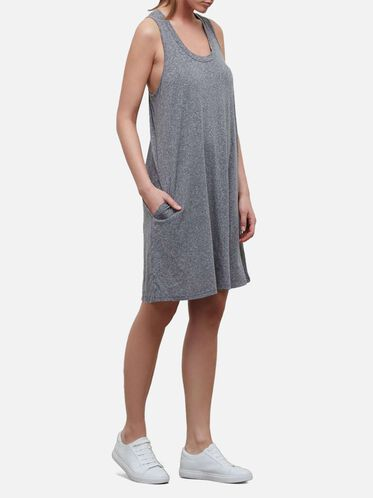 Sleeveless Swing Dress, GREY HEATHER