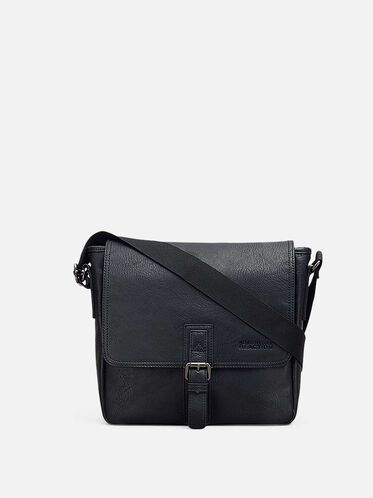 Buckle-Front Flapover Tablet Case, BLACK, hi-res