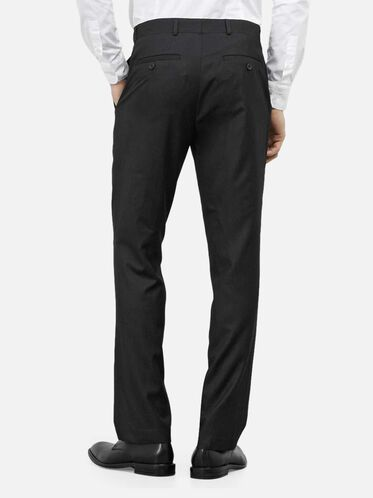 Slim-Fit Pin-Dot Suit Pant, 017CHARCOA, hi-res