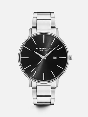 Stainless Steel Round Watch, NO COLOR