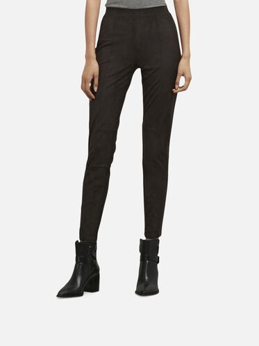 Faux Suede Legging, BLACK, hi-res