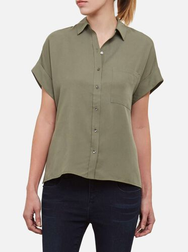 Dolman Button-Front Top, ARMY