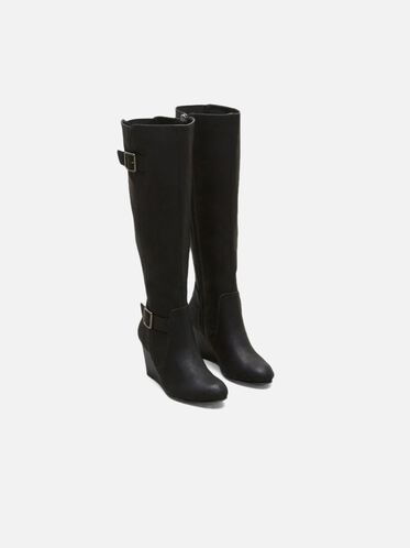 Magnolia Tall Wedge Boot, BLACK, hi-res