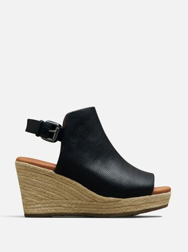 Katie Leather Espadrille Wedge, BLACK, hi-res
