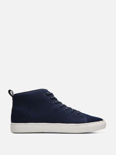 High Top Knit Sneaker, NAVY