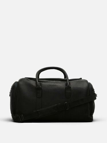 Colombian Leather Duffle Bag, BLACK