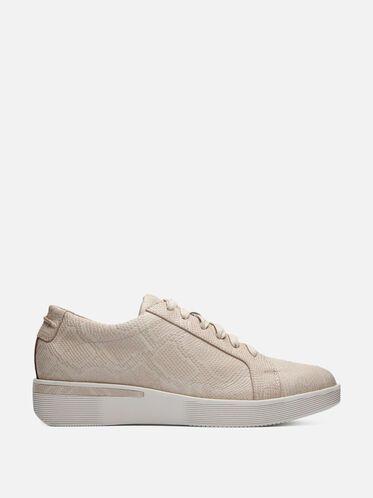 Embossed Leather Slip-on Sneaker, NUDE