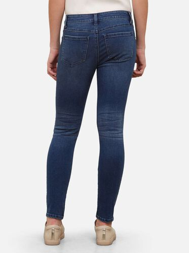 Medium Wash Skinny Jean, MED BLUE