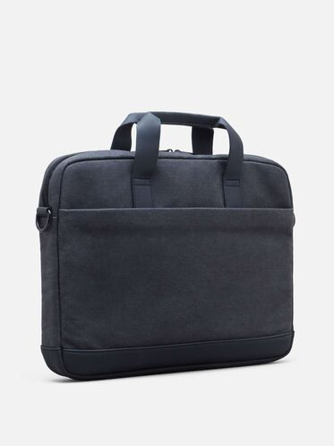 Single Gusset Canvas Computer Case, CHARCOAL