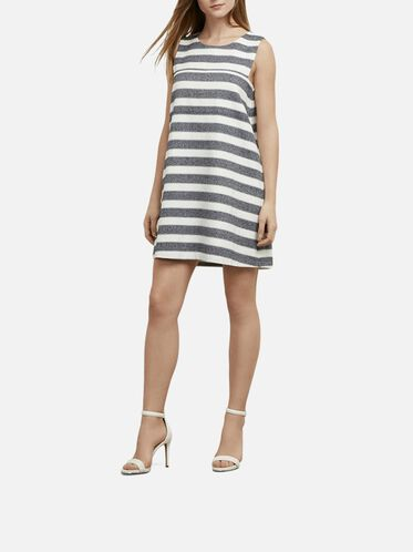 Sleeveless Woven Dress, D MRNE/ECRU