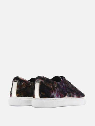 Womens Kam Metallic Floral Print Sneaker, MULTI
