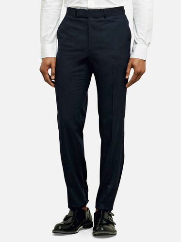 Single Pleat Slim-Fit Suit Pant, 413NAVY, hi-res