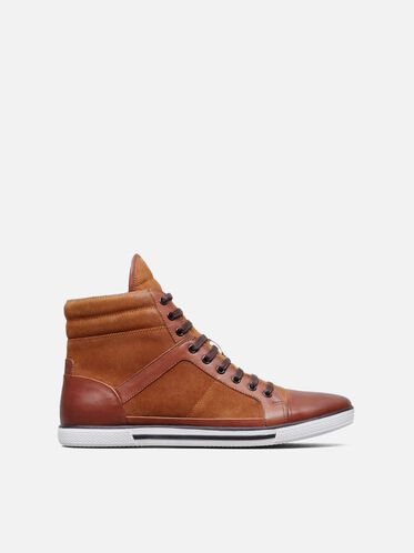 Sun-Down High-Top Sneaker, RUST