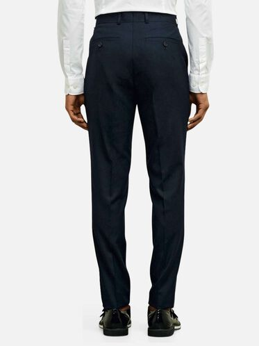 Single Pleat Slim-Fit Suit Pant, 413NAVY
