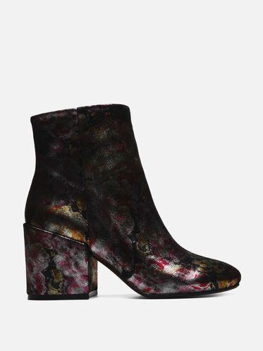 Reeve Metallic Floral Ankle Bootie, MULTI