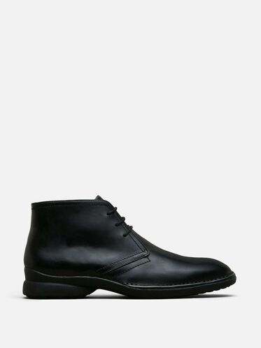 Punch-Uation Lace-Up Boot, BLACK LEATHE