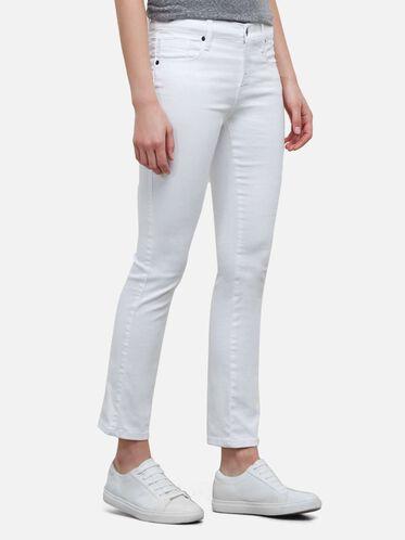 Straight Leg Jean, WHITE