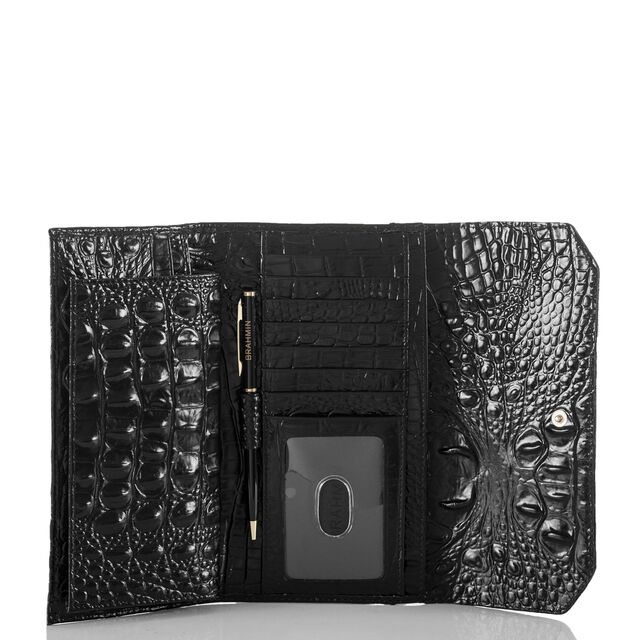 Soft Checkbook Wallet Black Melbourne, Black, hi-res