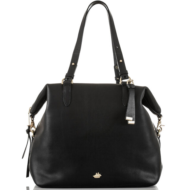 Delaney Tote Black Charleston, Black, hi-res