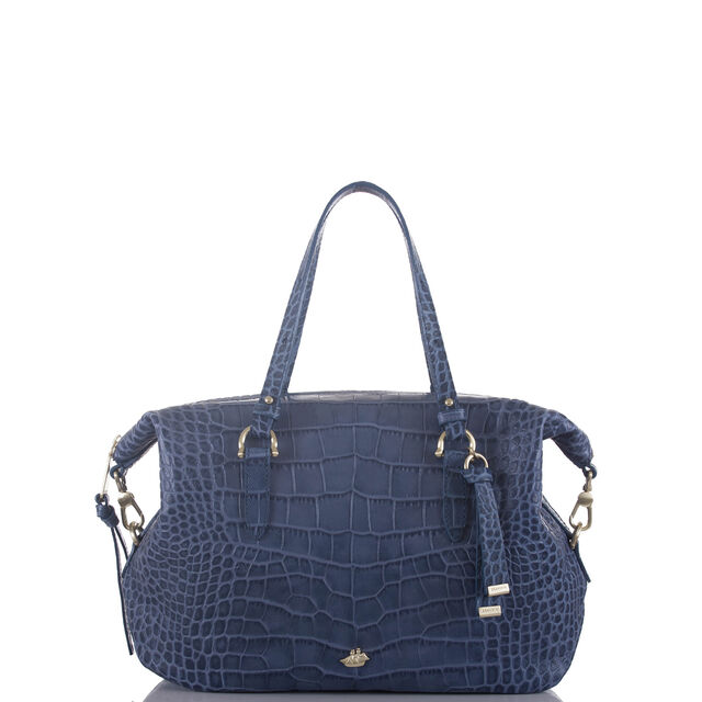 Delaney Satchel Denim Savannah, Denim, hi-res