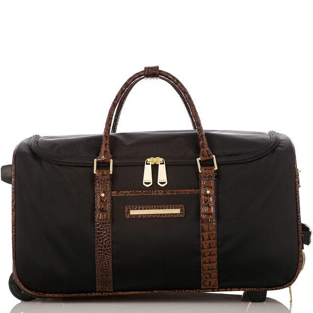 CarryOn Wheeled Duffle Black Travel, Black, hi-res