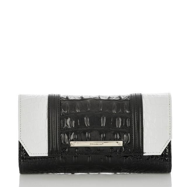 Soft Checkbook Wallet Black Crane, Black, hi-res