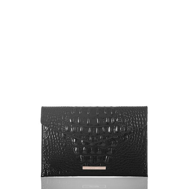 Envelope Clutch Black Melbourne, Black, hi-res
