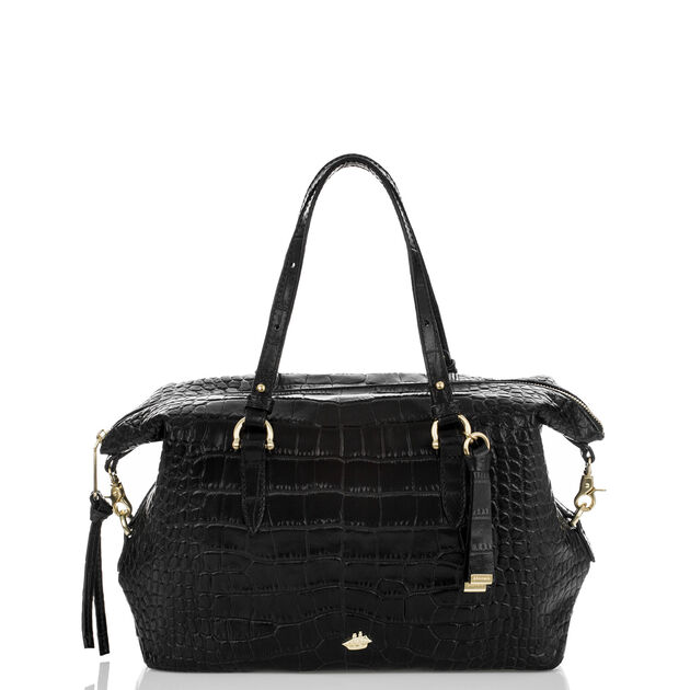 Delaney Satchel Black Savannah, Black, hi-res