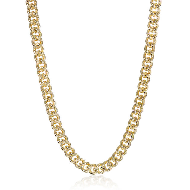 Classic Curb Necklace 18K Gold Plated Providence, 18K Gold Plated, hi-res