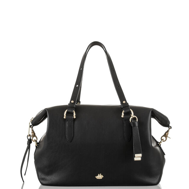 Delaney Satchel Black Charleston, Black, hi-res