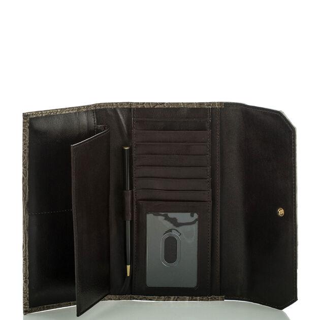 Soft Checkbook Wallet Pecan Azuma