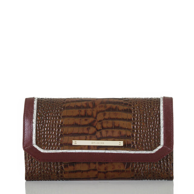 Soft Checkbook Wallet Toffee Tri-Texture, Toffee, hi-res