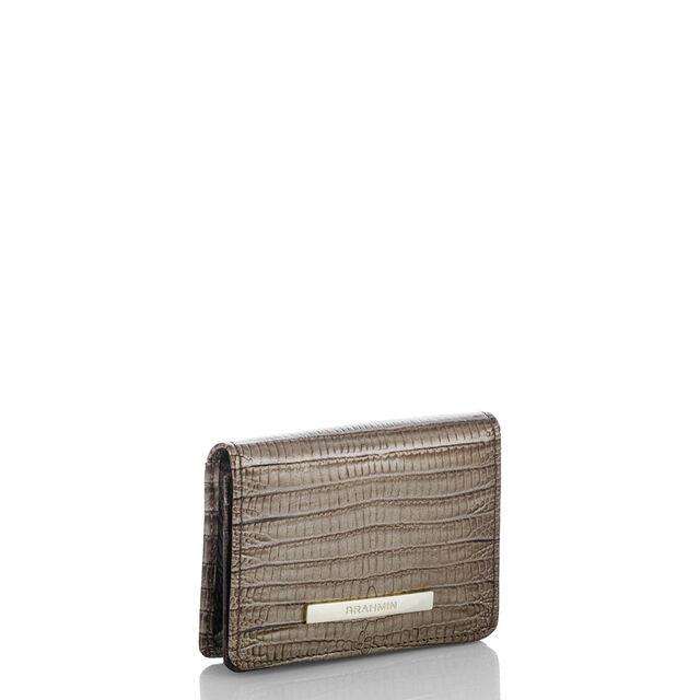 Mini Key Wallet Sable Fashion Lizard, Sable, hi-res