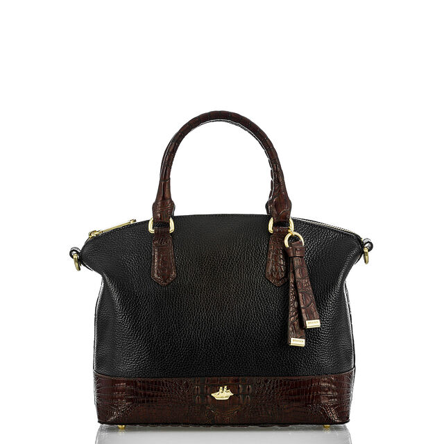 Duxbury Satchel Black Tuscan Coast, Black, hi-res