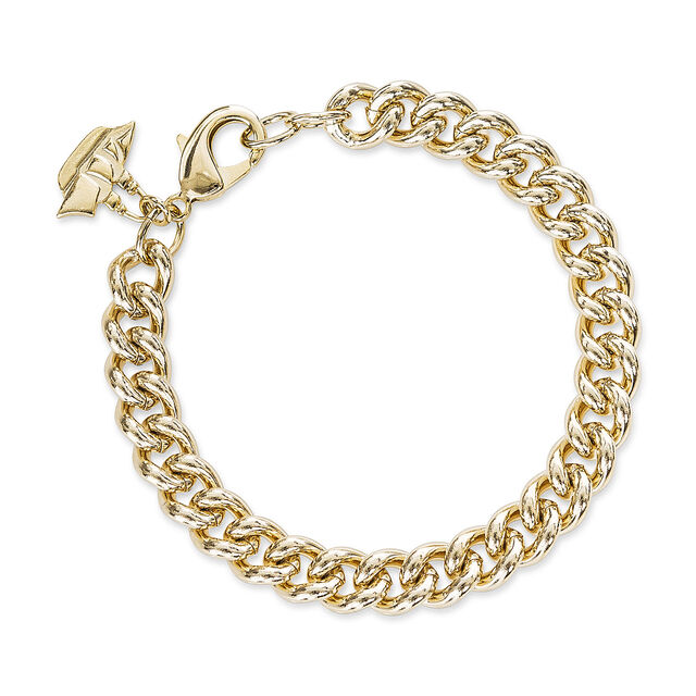Classic Curb Bracelet 18K Gold Plated Providence, 18K Gold Plated, hi-res