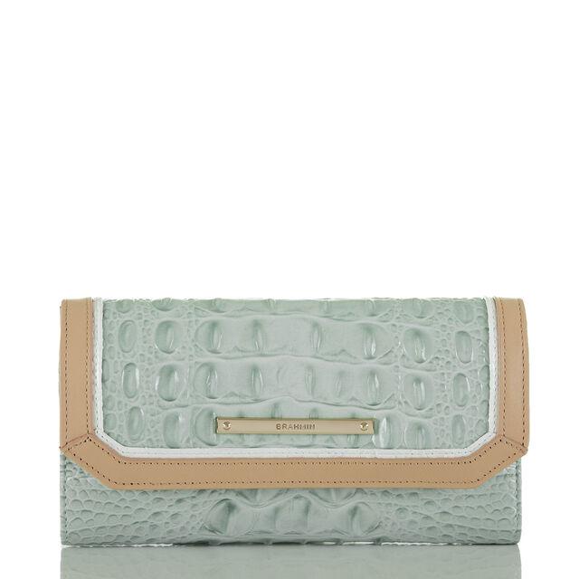 Soft Checkbook Wallet Sea Glass Tri-Color, Sea Glass, hi-res