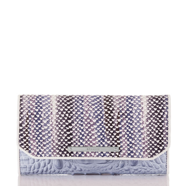 Soft Checkbook Wallet Periwinkle Monroe, Periwinkle, hi-res