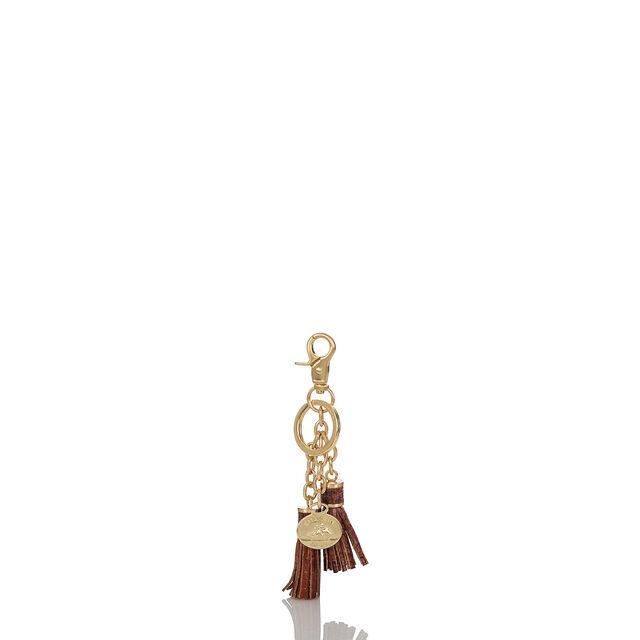 Tassel Key Ring Pecan Melbourne, Pecan, hi-res