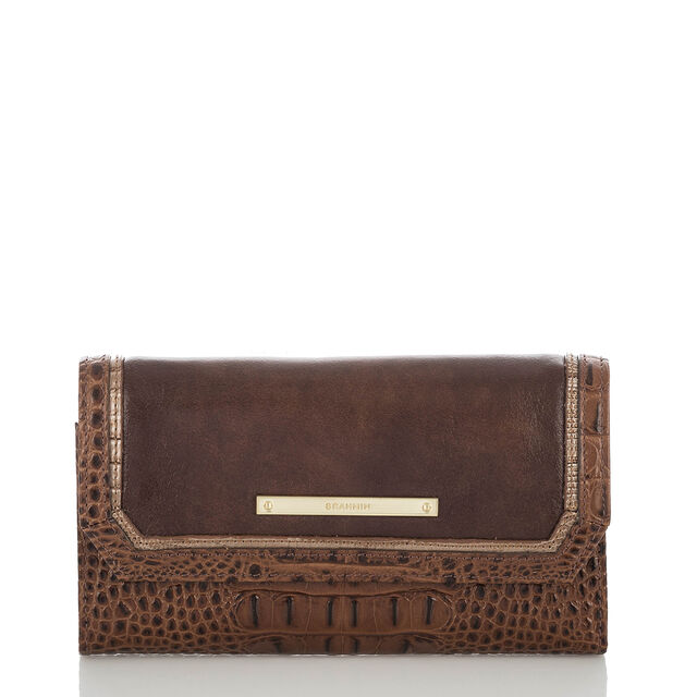 Soft Checkbook Wallet Brown Concerto, Brown, hi-res