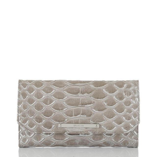 Soft Checkbook Wallet Silver Pamilla, Silver, hi-res