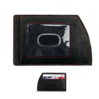Black Leather Ultra-Slim Men's Front-Pocket Wallet