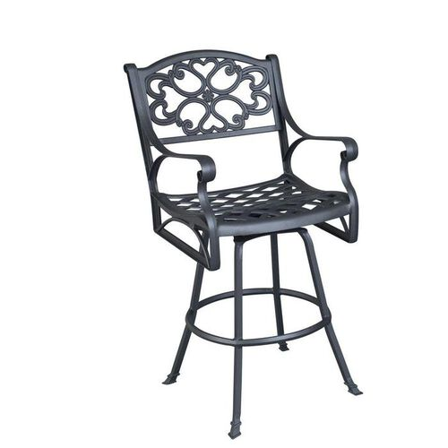 Biscayne Swivel Outdoor Metal Bar Stool