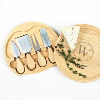 Personalized Gourmet 5 Piece Cheese Board Set By Cathy's Concepts