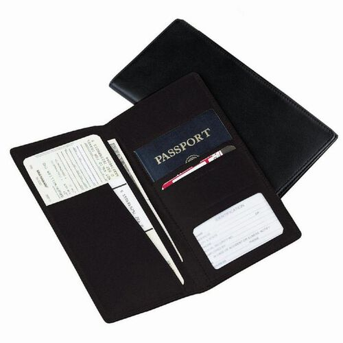 Royce Leather Passport and Ticket Holder