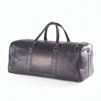 Clava Personalized Large Leather Duffel Bag