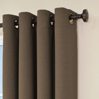 Eclipse Bobbi Grommet Blackout Window Curtain Panel