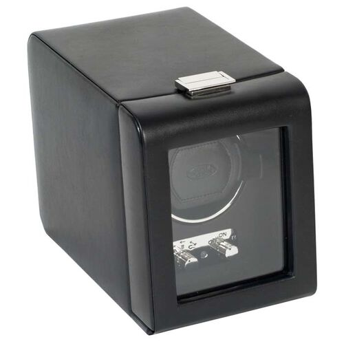 Single Automatic Watch Winder with Cover by Wolf