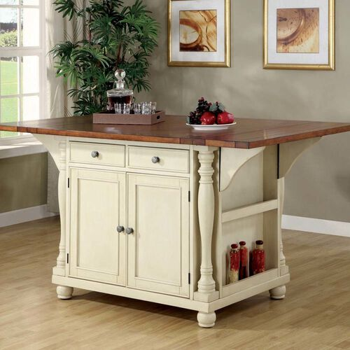 Country Cottage Styling Of This Large Scale Kitchen Island Gives Your