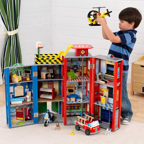 KidKraft Toy Police & Firefighter Heroes Play Set