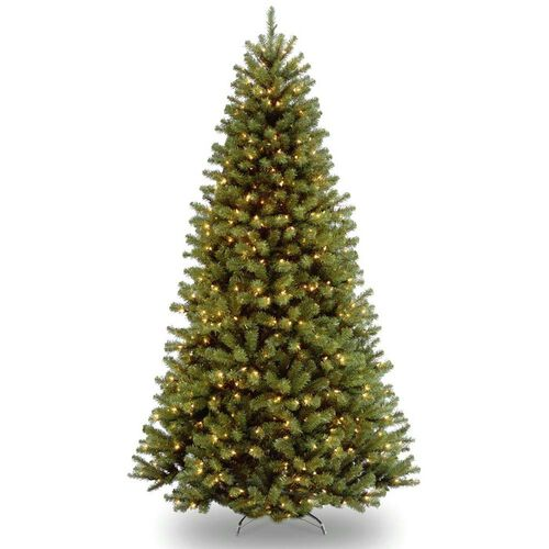 Pre-Lit North Valley Spruce Artificial Christmas Tree with 3 Way Foot Switch